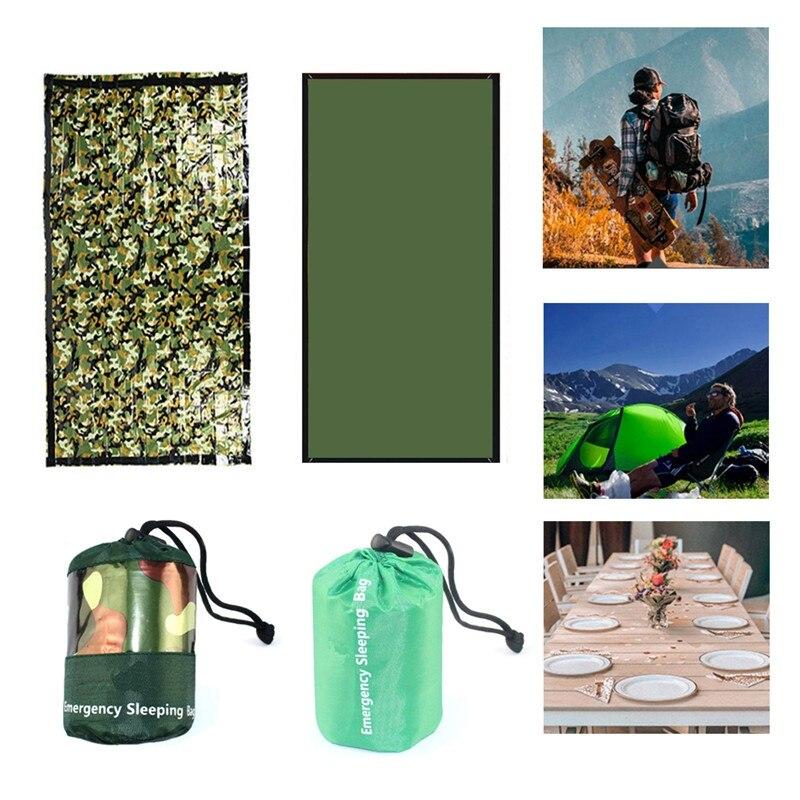 Купить с кэшбэком Outdoor Emergency Survival Compresion Sleeping Bag Reusable Blanket Camping Hiking Survival Reng Rescue Thermal Blanket