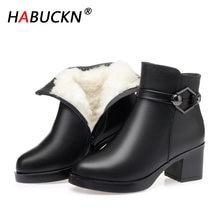 Habuckn/шерстяные женские зимние ботинки; Модная обувь из натуральной
