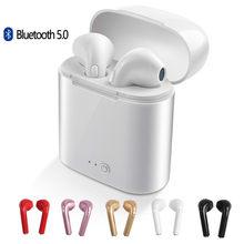 Fones de ouvido sem fio bluetooth i7 i7s tws esporte fones de ouvido com microfone para o telefone inteligente iphone xiaomi samsung huawei lg