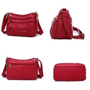 Image 5 - Ladies Multi pocket Messenger Bag High Quality Soft PU Leather Shoulder Bags Casual Crossbody Bags for Women 2020 Bolsa Feminina