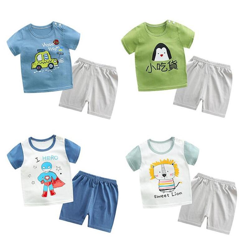 Boys Clothing Set Outfits Girls Clothes Children's Clothing Suits Top Cotton Pants Suit 2pcs Clothing Sets Kids Clothes