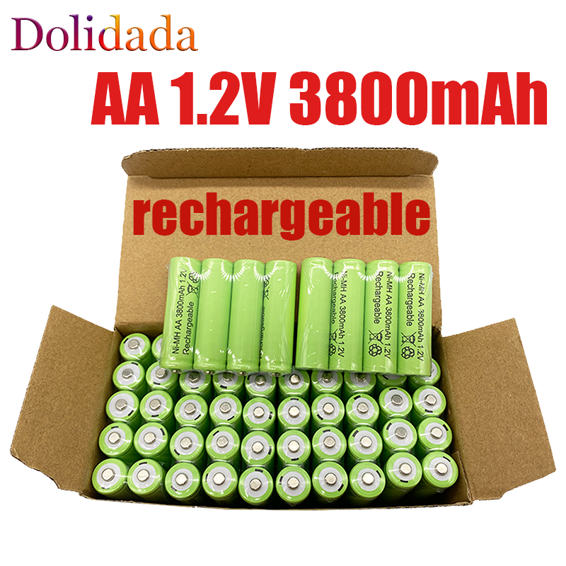 100% original 1.2V AA battery 3800mah Ni MH Rechargeable AA battery can be used for MP3 LED lamp of toy camera microphone