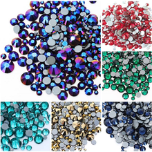 10g/bag Mixed Size  Flatback  Hot Fix Rhinestones, Glass Strass Iron On Rhinestones For Fabric garment professional vaccum hot fix applicator with 3 tips suit for all stone size 120v 220v hot fix machine for hot fix rhinestones