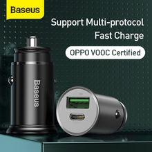 Автомобильное зарядное устройство baseus 30 Вт pps быстрое 40