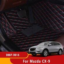 De cuero de automóviles Protector piso alfombras alfombra del coche para Mazda CX-9 2007, 2008, 2009, 2010, 2011, 2012, 2013, 2014, 2015 cx9