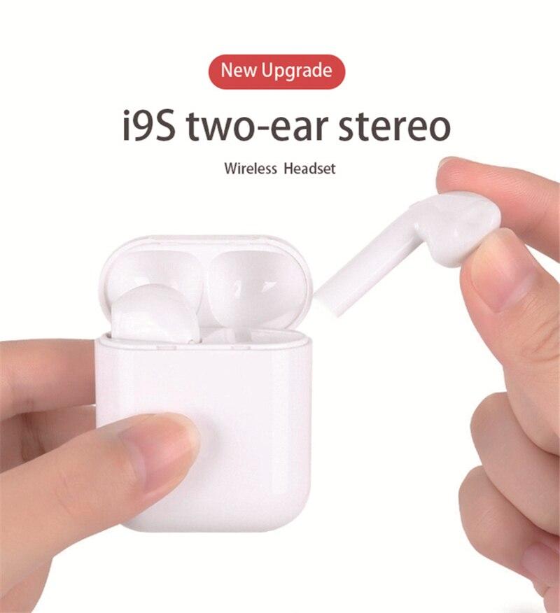 Беспроводные Bluetooth 5,0 наушники i9s с микрофоном, наушники-вкладыши, гарнитура с зарядным боксом для Xiaomi, Samsung, Huawei, LG
