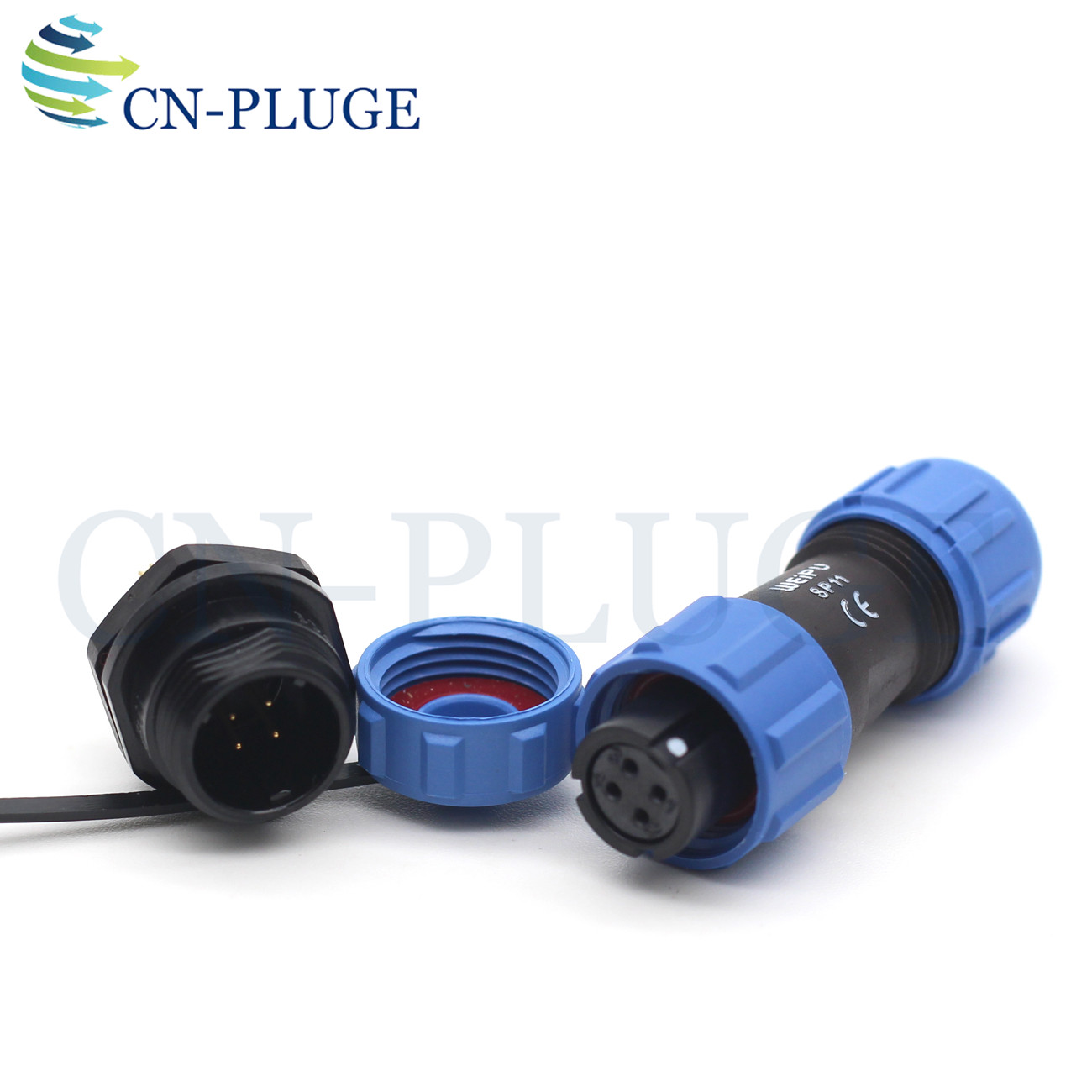 IP68 4pin Plug and Socket 4pin, Direct Plug SD13 4pin Waterproof Power Cable Connector Male -Socket auto Electrical Power Connector Plug Female