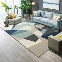 Моющийся ковер на осень и зиму для гостиной, моющийся современный геометрический ковер с принтом, коврик для гостиной, спальни