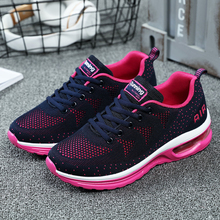 Jogging Sneakers Athletic-Shoes Air-Cushion Walking Women Mesh Non-Slip Breathable Light