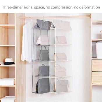 Bolso colgante organizador para armario práctico bolsa de almacenamiento puerta pared transparente varios zapatos bolsa de colgar 2/3/4 capa
