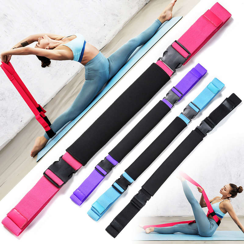Hot Yoga Stretch Strap Leg Band to Improve Flexibility Stretching Belt MVI-ing