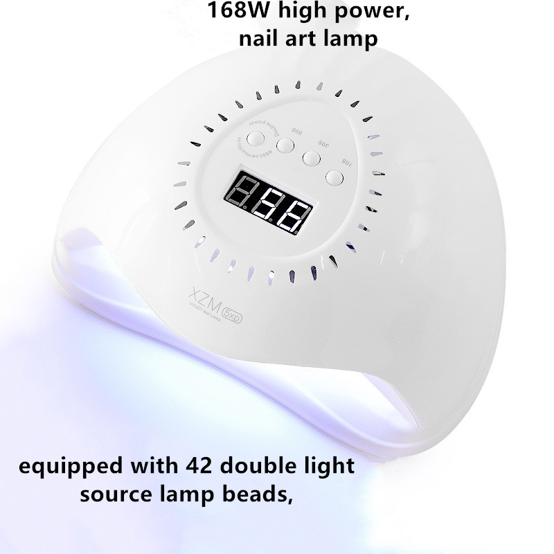 168W Nail Lamp UV LED Nail Dryer For Curing Gels Polish With Smart Sensor Manicure Nail Art Salon Equipment Tool