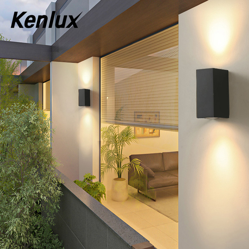 Kenlux Led Wall Lights 5W 10W Outdoor Led Light Waterproof Building Exterior Gate Balcony Garden Yard Light Aluminum Porch Lamp