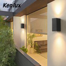 Kenlux led wall lights 5W 10W outdoor led light waterproof Building Exterior Gate Balcony Garden Yard light Aluminum Porch Lamp