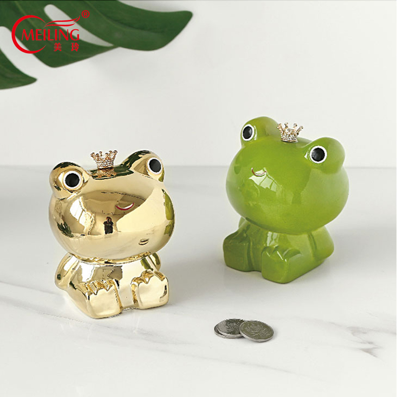 Cute Frog Figurines Ceramic Animal Statue Decorative Ornaments Handmade Art For Home Shelf Decor Personalized Gift For Her Women Figurines Miniatures Aliexpress