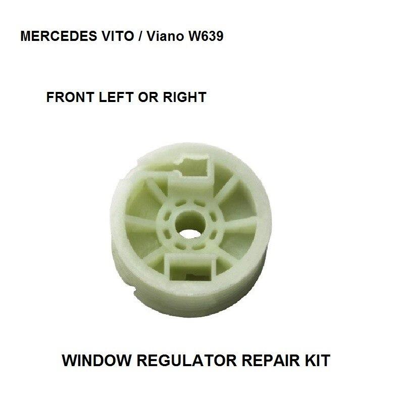 Jogo do rolo do regulador da janela do carro para mercedes vito/viano w639 rolo regulador de janela frente esquerda-direita polia 2003-2016