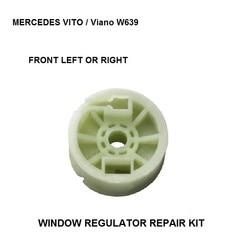 KIT de rodillo regulador de ventana de coche para MERCEDES VITO/Viano W639 rodillo regulador de ventana frontal izquierda-derecha polea 2003-2016
