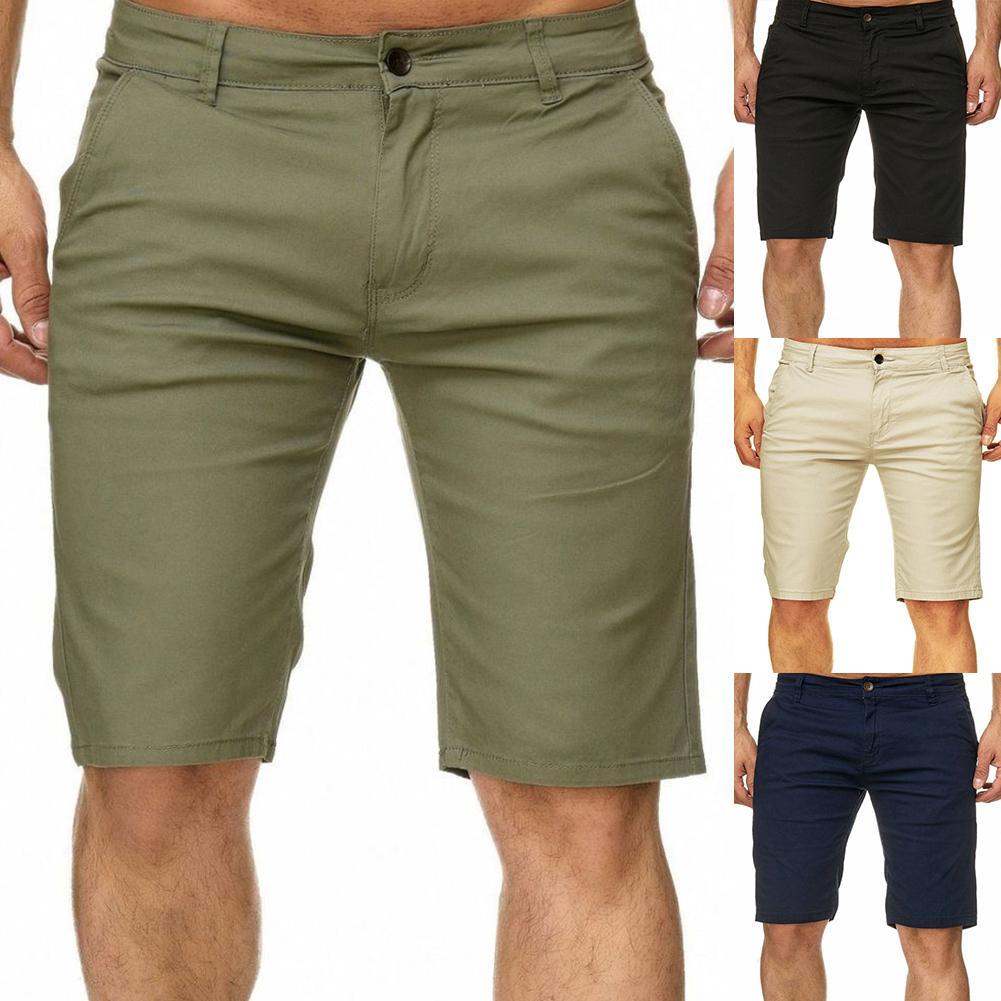 Летние хлопковые шорты, повседневные мужские шорты для путешествий, мужские повседневные шорты, одноцветные шорты, мужские шорты больших р...
