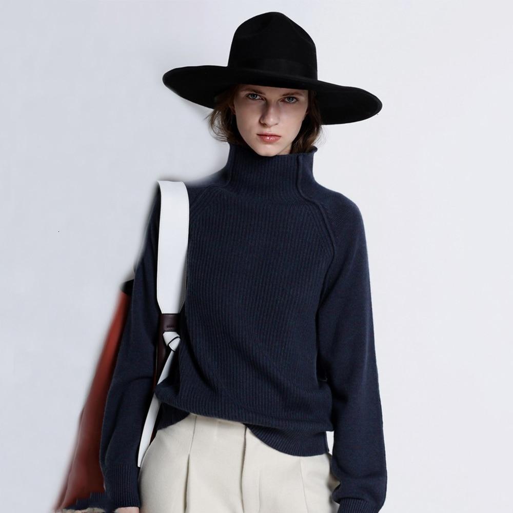 Autumn Winter Women Turtleneck Plain Color Elegant Pullovers Ladies Full Sleeve Comfy Knitted Sweater Fashion 2020 Pull De Noel