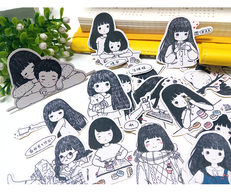 19PCS Girl  Stickers Crafts And Scrapbooking Stickers Kids Toys Book Decorative Sticker DIY Stationery