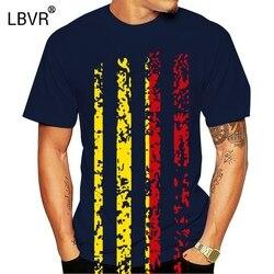 Bélgica bandeira do vintage impressão 3d dos homens preto e branco manga curta t-shirts punk rock casual topo novo design camisas de presente de natal