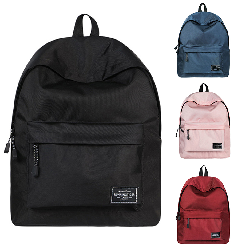 Black Backpack School Bag For Teenager Girl Women Laptop Bag Pack Bagpack Mochila Feminina Black Bookbag Rucksack Pink Sac A Dos