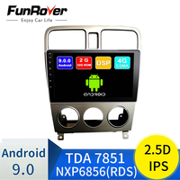 FUNROVER IPS+2.5D For Subaru Forester 2004 07 2din android9.0 Car Radio Multimedia Player autoradio Navigation GPS 2G+32G no dvd