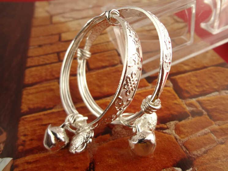 Pulseras de campanas y brazaletes para bebés y niños pulseras tobilleras para recién nacidos y niñas brazalete ajustable para bebés de 4cm de diámetro