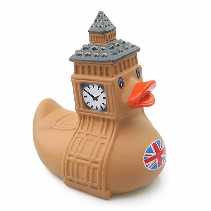 Классическая утка игрушка самурайский стиль утка Великобритания большой бен утка милая детская Ванна игрушка подарок на день рождения игрушечная утка