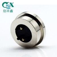2pin imán redondo pogo pin conector macho 3 piezas imán resorte cargado 2pin pogo pin conector|Conectores|   -