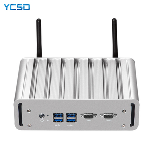 Image 1 - YCSD Quạt Không Cánh Mini PC Intel Core I7 5500U Windows 10 Linux 2 * Gigabit Ethernet 2 * RS232 DB9 4 * USB 300Mbps Nettop NUC
