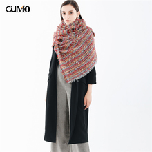 [OuMo] Brand Women shawl bandana Houndstooth scarf women kerchief hair scarf women Thicken Long Soft Warm  snood shawls 190*62cm недорого
