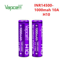 2 baterias recarregáveis originais inr 3.7 14500 mah 10a h10 da bateria do lítio 1000 v de vapcell dos pces para a lanterna/ferramentas elétricas