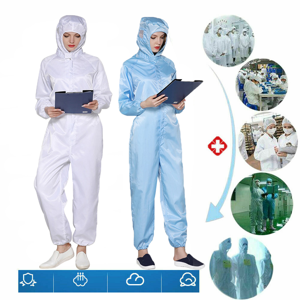 S-3XL Reusable Hazmat Suit Anti Virus Protection Protective Clothing Safety Coverall Disposable Washable Medical Safety Suit