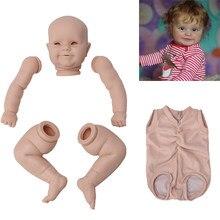 20 Polegada 51cm boneca reborn maddie kit em branco realista corpo de tecido recém nascido diy reborn bebe peças kit sem pintura