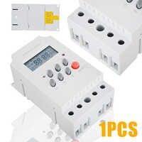 1 unidad AC 220V 25A interruptor temporizador electrónico Din Rail Digital programable temporizador electrónico KG316T-II