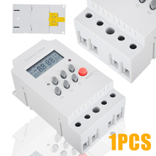1pc AC 220V 25A Electronic Timer Switch Din Rail Digital Programmable Electronic Timer Switch KG316T-II ahc15 ac 220v digital lcd power timer programmable time switch relay 25a 16a good temporizador with din rail good quality