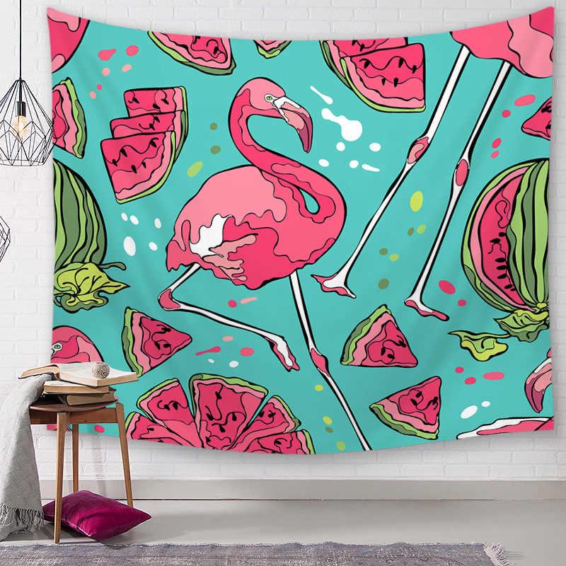 Flamingo CAMMITEVER Parede Tapeçaria Pendurada Bruxaria Hippie Boho Bohemian Praia Jogar Tapete Viagem Lua Início Arte Tapeçarias