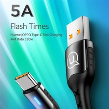 USAMS usb type c cable 5A quick charger