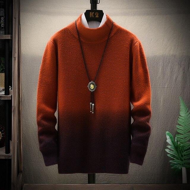 De calidad superior suéter de Navidad para hombres ropa de invierno 2020 grueso cálido suéteres Casual clásico cuello jersey de Cachemira de los hombres 2