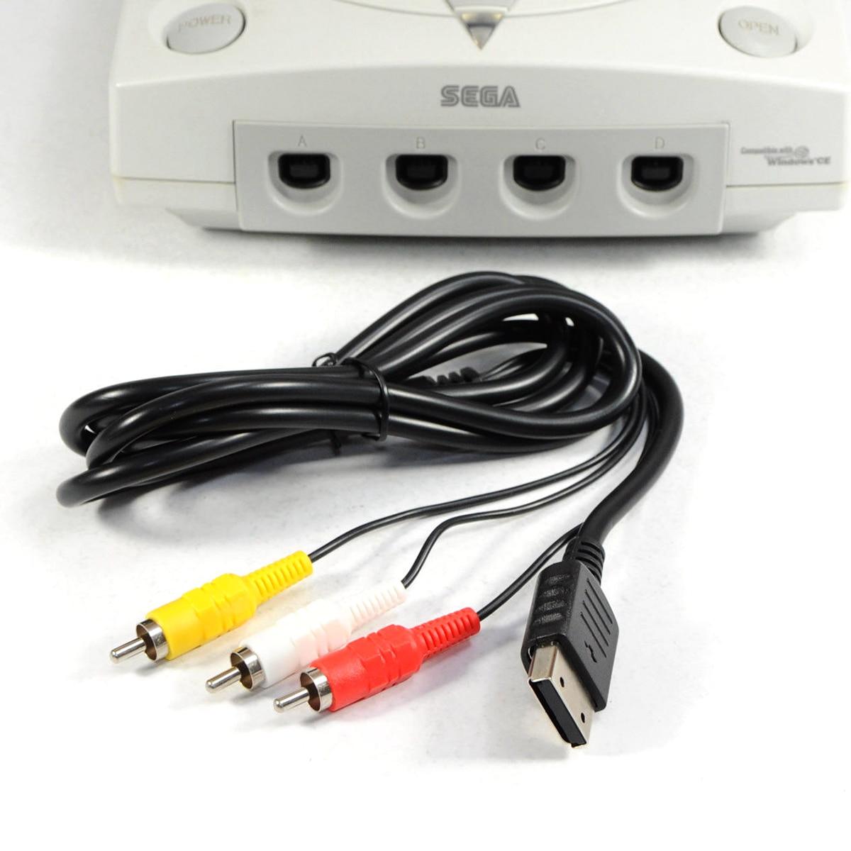 6FT RCA AV A V Audio Video Cable for Sega Dreamcast Stereo Composite Audio Video TV