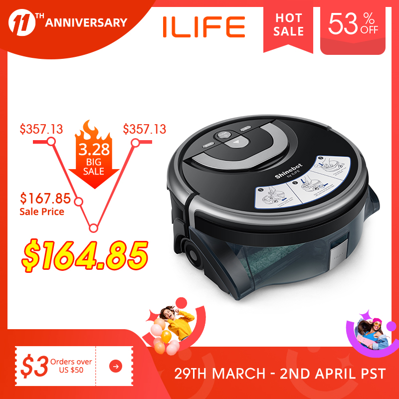 ILIFE New W400 Floor Washing Robot Shinebot Navigation Large Water Tank Kitchen Cleaning Planned Cleaning Route 1
