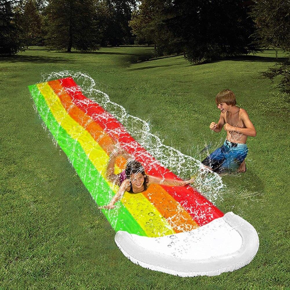 Children Water Slide Pools Inflatable Sprinkler Kids Summer PVC Outdoor Toys Water Slide Toys Summer Water Play Toys
