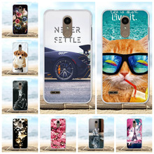 все цены на Phone Cases For LG K8 2018 / K9 Cover Silicone Painted Protective 3D Cute Cat Animal Bags For LG K8 2018 Case For LG K9 Coque онлайн