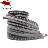 1m 2m 3m 4m 5m WS2812B WS2812 Tira Conduzida  RGB Tira Conduzida Individualmente Endereçáveis Inteligentes  Preto/Branco PCB Waterproof IP30/65/67 DC5V|smart rgb led strip|ws2812 led strip|led strip -