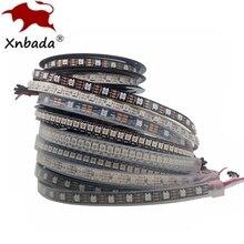 1m, 2m, 3m, 4m, 5m, WS2812B, WS2812, tira Led RGB inteligente direccionable individualmente, PCB negro/blanco impermeable IP30/65/67 DC5V
