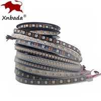 Tira de Led 1m 2m 3m 4m 5m WS2812B WS2812, tira de Led RGB inteligente direccionable individualmente, PCB negro/blanco impermeable IP30/65/67 DC5V