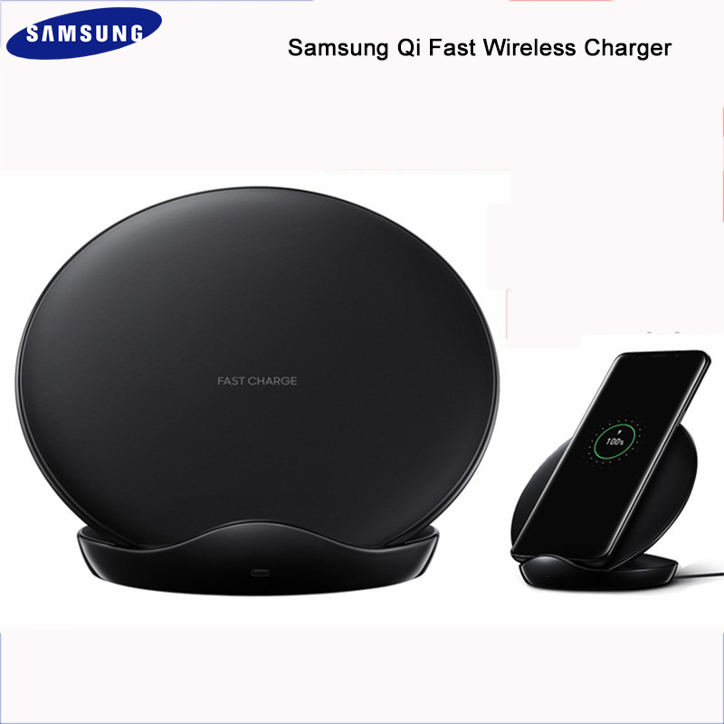 Original Samsung S9 Qi Fast Wireless Charger Stand Pad For Samsung Galaxy S6 S7 edge S8 S9 S10 plus s10e Note 3 4 5 8 with cable