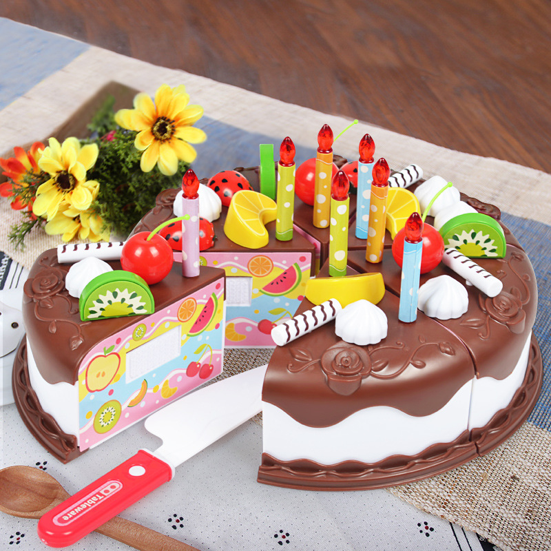 Fruit  Children Toy Pretend  Play House  Simulation Of The Kitchen  The Birthday Kitchen Toys Cake Kids Toys  Boy Girl Suit