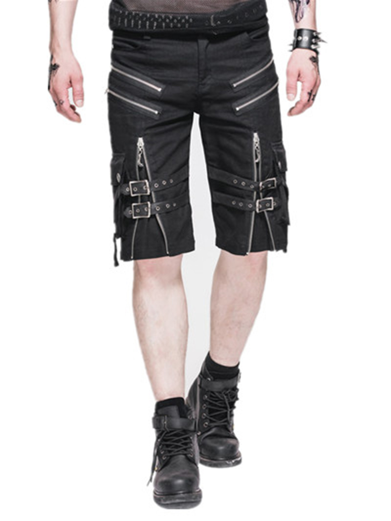 Devil Fashion Men Punk Rock Casual Shorts Pants Personality Fashion Knee Length Pants Men's Casual Summer Short Pants